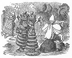 イラスト: チェスの駒たち
