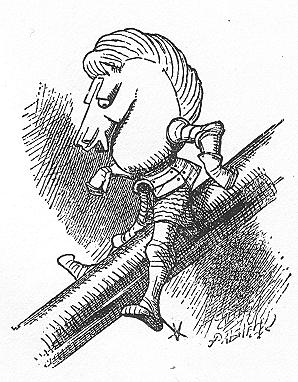 イラスト: バランスの悪い白騎士