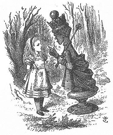 イラスト: 赤の女王とご対面