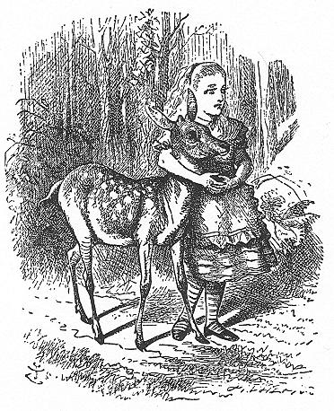 イラスト: 子鹿とアリス