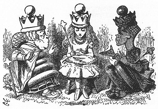 イラスト: アリス女王の試験
