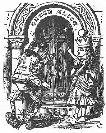 イラスト: ドアに応えるのはだれの仕事?