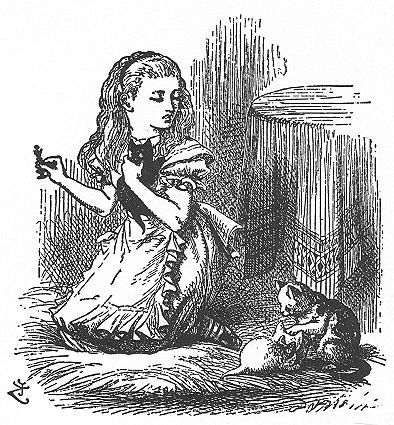 イラスト: ダイナとアリスと子ネコたち