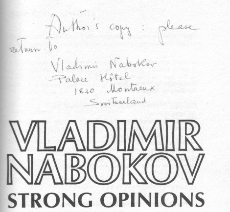 Strong Opinion inscription